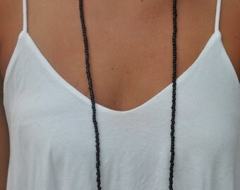Black Double Wrap Necklace