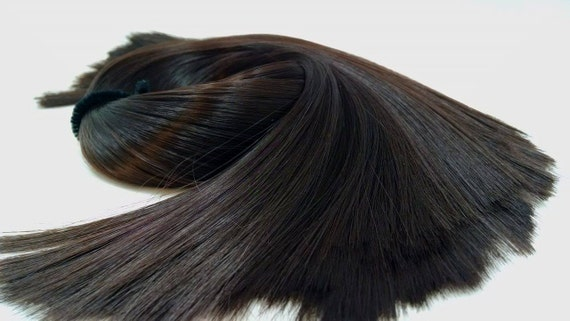 Hathaway Chocolate Brown Doll Rerooting Hair Hank for My Little Pony, Barbie, Monster High, Ever After, Dawn, Sindy, Blythe INTL SHIPPING