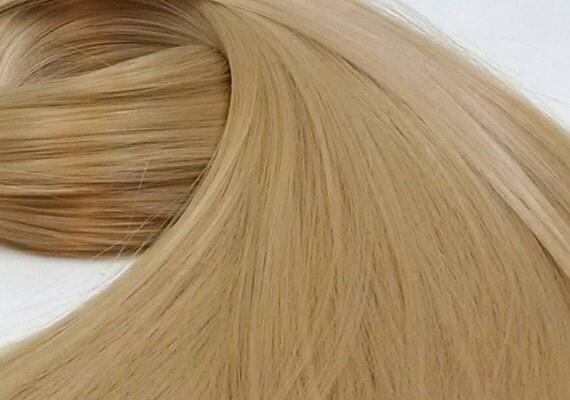 Buffy Dark Blonde Nylon Doll Rerooting Hair Hank for My Little Pony, Barbie, Crissy, Blythe, Sindy, Monster HIgh, Ever After, Disney Dolls