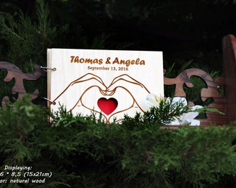 Guest Book Unique Wedding GuestBook Wood Wedding Guest Book Rustic Guestbook Custom Guest Book Unique Wedding GuestBook Wedding Heart