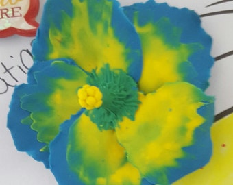 Clay Flower Magnets
