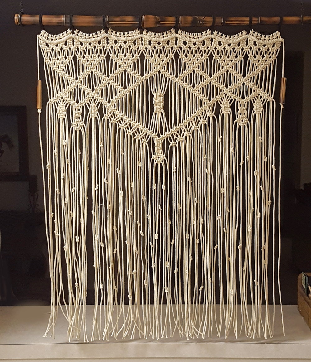 macrame large large macrame wall hanging bamboo window curtain by 471