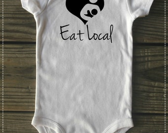 Eat Local onesie