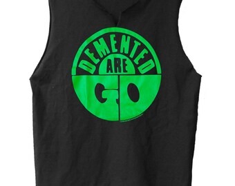 Green Logo  - Demented Are Go muscle shirt