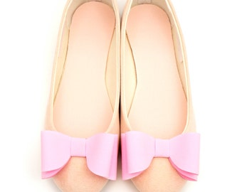 Light pink bows - shoe clips Manuu, Bridal shoe clips, Wedding shoe clips