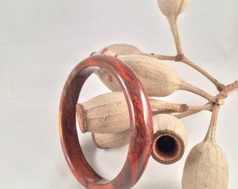 SALE - Jasper Agate stone bangle - earthy tones - reds & Browns - natural stone jewellery