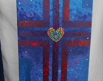 Blue Jeweled Cross