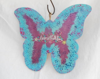 Aqua Butterfly with Love Others