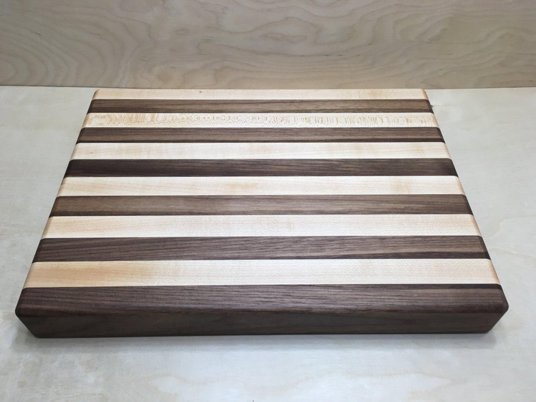 striped edge grain cutting board. Black Bedroom Furniture Sets. Home Design Ideas