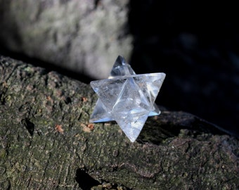 FREE SHIPPING clear quartz Merkabah - sacred geometry