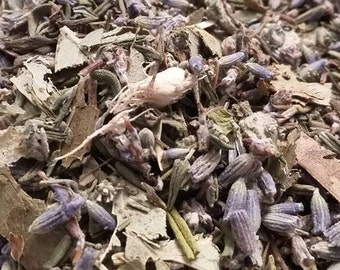 Quiet spring, Hayfever - natural, delicious and effective reactive tea! Lavender, thyme, Sage, Eucalyptus, ginger - 55g