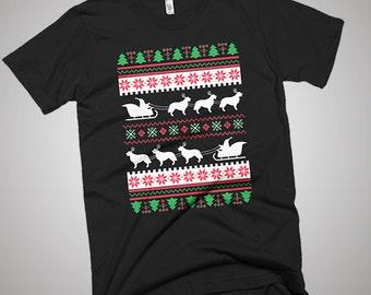 Golden Retriever Shirt Gift Santa's Reindeer Tee Christmas Ugly Sweater T-Shirt