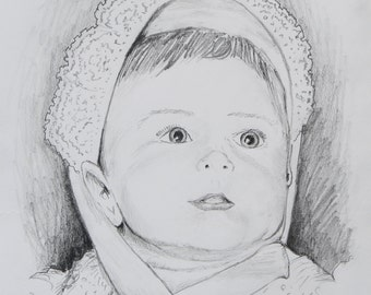 Hand Drawn Pencil Portraits - Example Only