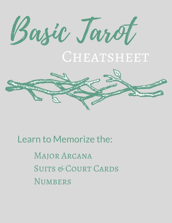 Printable Basic Tarot Cheatsheet Tarot By WitchofLupineHollow