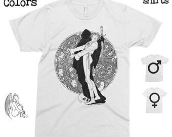 Hamlet 3 - John Austen T-shirt, Tee, American Apparel, Art, Illustration, Illustrator, Shakespeare, Play, Cute Gift