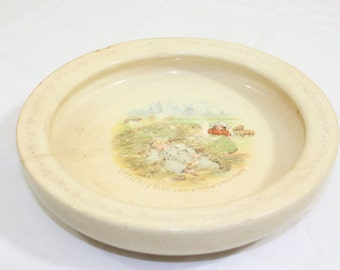 """Vintage Hold Fast Baby Plate """"Little Boy Blue"""""""