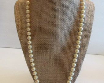 Vintage 1920's Hand Knotted Glass Faux Pearls