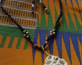 Coral Necklace with Gold and Crystal Beads