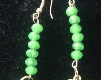 Green Earring Set