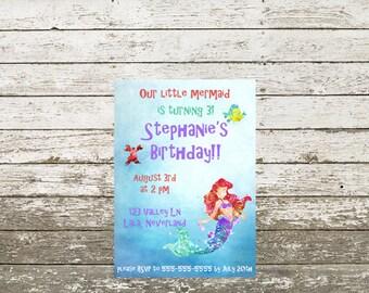 Little Mermaid birthday invite!