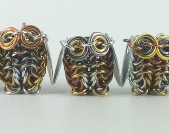 Small Chainmail Owls