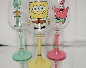 Character Wine Glass