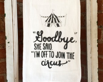 Circus Dish Towel