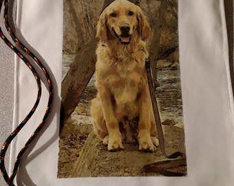 Personalized Pet Bag.  Example Dusty