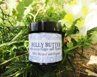 Organic Belly Butter - Stretch Mark Cream - 100% Natural and Organic - Vegan friendly