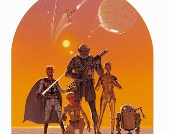 Star Wars Character Concept Art by Ralph McQuarrie Fine Art Print