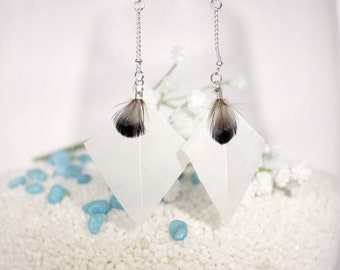"Earrings feather ""arrow"""