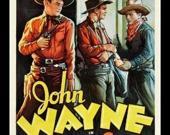 LARGE SIZE John Wayne / Paradise Canyon / Old Western / The Duke / Vintage Movie Poster / Vintage Print / Big Poster / Large Poster