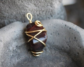 Red Tigers Eye - Gold