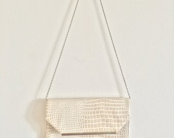 off white vintage handbag