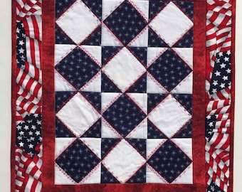 Doll quilt , doll blanket for an American Girl Doll, Miniature Quilt, wall hanging, Quiltsy handmade