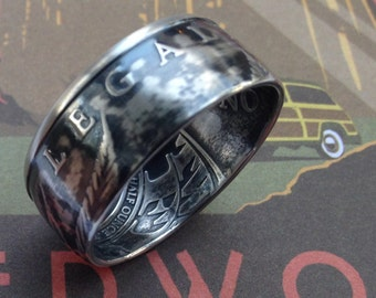 Legalize It Cannabis Pot Silver Round Coin Ring (99% Silver)
