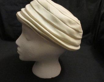 1950s White Linen Arnold Constable Hat