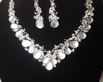Bridal Evening Wear Necklace And Earring Set