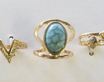4 Piece Ring & Midi Ring Set