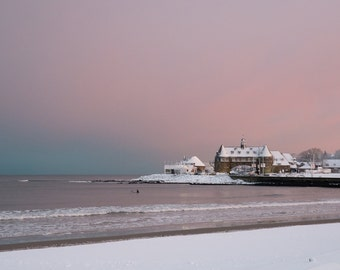 A Winter Sunset at The Narragansett Towers, Rhode Island