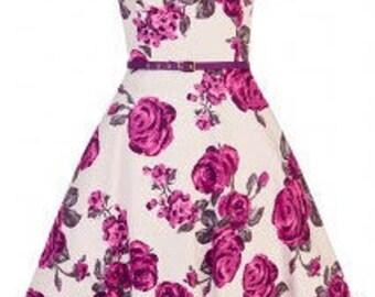 Vintage style flower swing dress