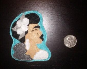 Felt Billie Holiday Pin