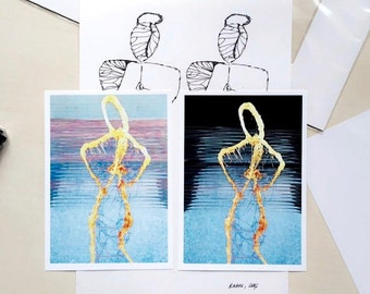 Set 2 Sculpture Postcards