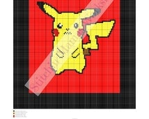 Pikachu Graphghan/Blanket Pattern- Graph and Written Pattern