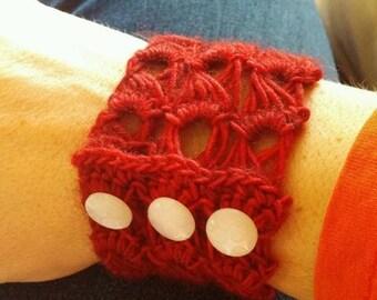 Crochet Wrist Cuff / Bracelet