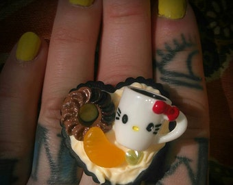 Breakfast Kitty Ring