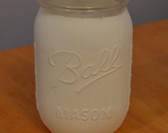 White Mason Jar