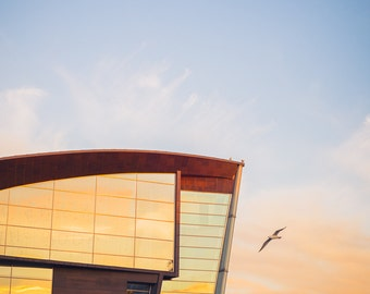Museum of Contemporary Art Kiasma Helsinki Landmark colour photo print - FREE SHIPPING - Limited Edition - Sunset - Fine Art Print