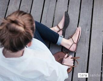 TARA Savana / leather barefoot sandal / minimalistic sandals / huarache / tarahumara inspired