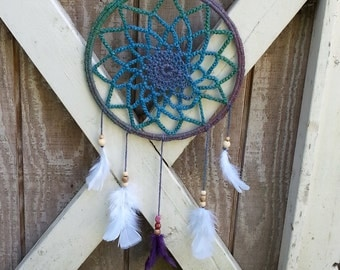 SHIPPING INCLUDED handmade crocheted dreamcatcher